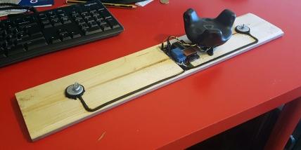 Band/Table Saw force feedback wood piece, by Emanuel Tomozei